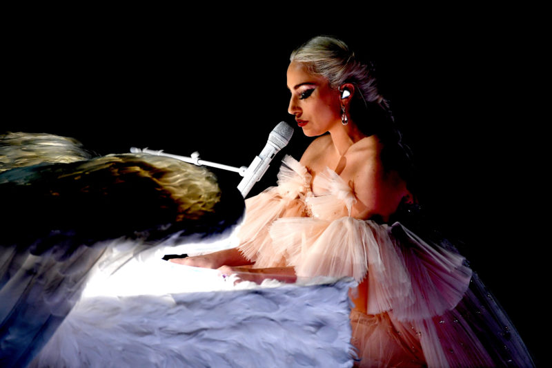 NEW YORK, NY - JANUARY 28:  Recording artist Lady Gaga performs onstage during the 60th Annual GRAMMY Awards at Madison Square Garden on January 28, 2018 in New York City.  (Photo by Kevin Winter/Getty Images for NARAS)