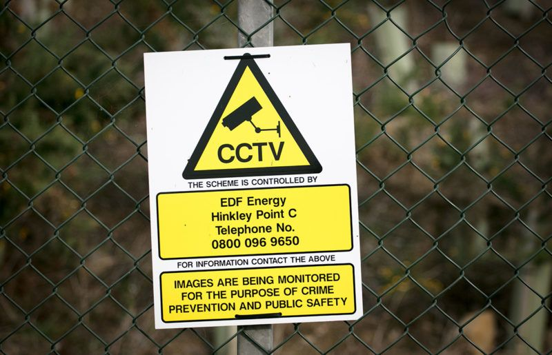 BRIDGWATER, ENGLAND - NOVEMBER 01:  A sign is seen close to the construction site of the Hinkley Point C nuclear power station being constructed near Bridgwater on November 1, 2017 in Somerset, England. Since the go-ahead to construct the Hinkley Point C nuclear power station by EDF Energy, was given in October 2016 it has become one of the largest construction sites in Europe with around 2,000 workers on site every day. The two new reactors, Britain's first power plant in 20 years and being built adjacent to the existing Hinkley Point A and B nuclear power stations next to the Bristol channel, are planned to be switched on in the middle of the next decade and is hoped will provide 7percent of the UK's electricity. In July, EDF announced its total cost was likely to rise by £1.5bn to £19.6bn and could be delayed by up to 15 months.  (Photo by Matt Cardy/Getty Images)
