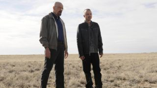 Breaking Bad TV Series 2008 - 2013 USA 2012 Season 5, episode 1 : Live Free or Die Created by : Vince Gilligan Director : Michael Slovis Bryan Cranston, Aaron Paul Photo: Ursula Coyote. It is forbidden to reproduce the photograph out of context of the promotion of the film. It must be credited to the Film Company and/or the photographer assigned by or authorized by/allowed on the set by the Film Company. Restricted to Editorial Use. Photo12 does not grant publicity rights of the persons represented.