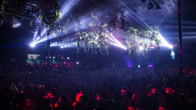 MIAMI, FL - DECEMBER 05:  General view of the atmosphere during Bjork's Art Basel DJ set at Mana Wynwood on December 5, 2017 in Miami, Florida.  (Photo by Santiago Felipe/Getty Images)