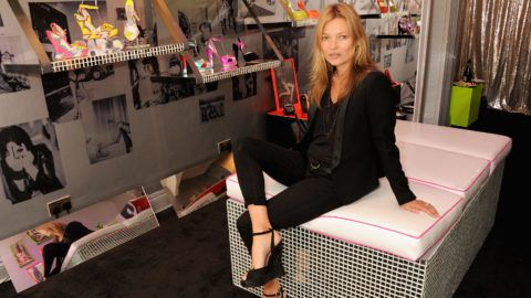 LONDON, ENGLAND - APRIL 25:  Kate Moss attends the Terry de Havilland Store Opening at 8 Ganton Street on April 25, 2013 in London, England.  (Photo by David M. Benett/Getty Images)