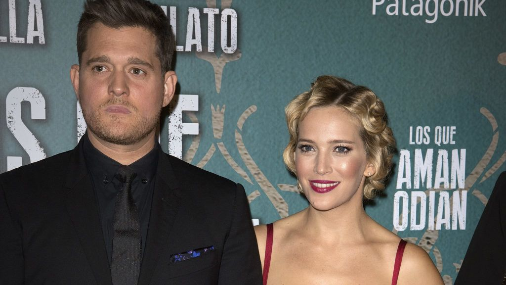 BUENOS AIRES, ARGENTINA - SEPTEMBER 04:  (L-R) Michael Buble and Luisana Lopilato attend the ''Los Que Aman, Odian' premiere at the Dot Shopping Cinema on September 4, 2017 in Buenos Aires, Argentina.  (Photo by Lalo Yasky/Getty Images)