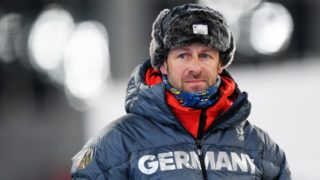 PYEONGCHANG-GUN, SOUTH KOREA - FEBRUARY 08:  Head coach Mark Kirchner of Germany looks on as biathletes train ahead of the PyeongChang 2018 Winter Olympic Games at Alpensia Biathlon Centre on February 8, 2018 in Pyeongchang-gun, South Korea.  (Photo by Matthias Hangst/Getty Images)