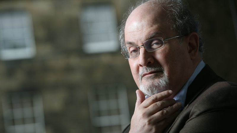 EDINBURGH, SCOTLAND - AUGUST 10:  Sir Ahmed Salman Rushdie, British Indian born author of 'The Satanic Verses', 'Midnight's Children' and others, at a photocall prior to an event at the 30th Edinburgh International Book Festival, on August 10, 2013 in Edinburgh, Scotland.  (Photo by Jeremy Sutton-Hibbert/Getty Images)