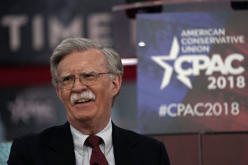 (FILES) This file photo taken on February 22, 2018 shows former US Ambassador to the United Nations John Bolton speaking during CPAC 2018 in National Harbor, Maryland.  Former United States Ambassador to the United Nations John R Bolton will replaces HR McMaster as national security advisor is was announced on March 22, 2018. / AFP PHOTO / GETTY IMAGES NORTH AMERICA / Alex WONG