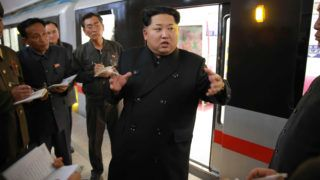 """This picture taken by North Korea's official Korean Central News Agency (KCNA) on November 19, 2015 shows North Korean leader Kim Jong-Un inspecting the new subway train at Pyongyang's Kaeson station.  AFP PHOTO / KCNA via KNS    REPUBLIC OF KOREA OUT THIS PICTURE WAS MADE AVAILABLE BY A THIRD PARTY. AFP CAN NOT INDEPENDENTLY VERIFY THE AUTHENTICITY, LOCATION, DATE AND CONTENT OF THIS IMAGE. THIS PHOTO IS DISTRIBUTED EXACTLY AS RECEIVED BY AFP. ---EDITORS NOTE--- RESTRICTED TO EDITORIAL USE - MANDATORY CREDIT """"AFP PHOTO / KCNA VIA KNS"""" - NO MARKETING NO ADVERTISING CAMPAIGNS - DISTRIBUTED AS A SERVICE TO CLIENTS / AFP PHOTO / KCNA / KNS"""