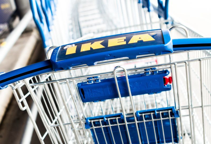 AMSTERDAM, NETHERLANDS - DECEMBER 18: An IKEA logo is seen on a shopping cart at IKEA store in Amsterdam, Netherlands on December 18, 2017. The European Commission is to open an in-depth investigation into IKEA's corporate tax structure. Paco Nunez / Anadolu Agency