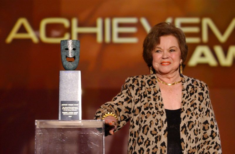Shirley Temple Black during 12th Annual Screen Actors Guild Awards - Rehearsal at Shrine Expo Hall in Los Angeles, California, United States. (Photo by Ron Wolfson/WireImage)