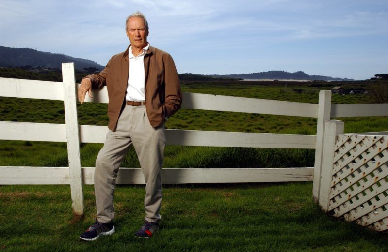 Actor Clint Eastwood at his Mission Ranch Inn in Carmel. (Photo by Axel Koester/Corbis via Getty Images)
