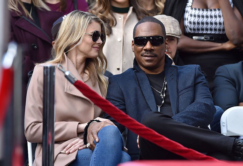 HOLLYWOOD, CA - JANUARY 19:  Actor Eddie Murphy and wife Paige Butcher attend the ceremony honoring Brett Ratner with a Star on the Hollywood Walk of Fame on January 19, 2017 in Hollywood, California.  (Photo by Axelle/Bauer-Griffin/FilmMagic)