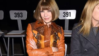 NEW YORK, NY - FEBRUARY 14:  Anna Wintour attends the Marc Jacobs Fall 2018 Show at Park Avenue Armory on February 14, 2018 in New York City.  (Photo by Dimitrios Kambouris/Getty Images for Marc Jacobs)