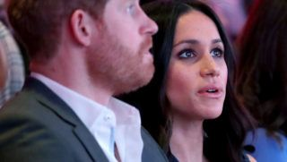 LONDON, ENGLAND - FEBRUARY 28:  Prince Harry and Meghan Markle attend the first annual Royal Foundation Forum held at Aviva on February 28, 2018 in London, England. Under the theme 'Making a Difference Together', the event will showcase the programmes run or initiated by The Royal Foundation.  (Photo by Chris Jackson - WPA Pool/Getty Images)