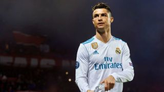 PARIS, FRANCE - MARCH 06:  Cristiano Ronaldo of Real Madrid looks on during the UEFA Champions League Round of 16 Second Leg match between Paris Saint-Germain and Real Madrid at Parc des Princes on March 6, 2018 in Paris, France.  (Photo by Manuel Queimadelos Alonso/Getty Images)