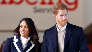 BIRMINGHAM, UNITED KINGDOM - MARCH 08: (EMBARGOED FOR PUBLICATION IN UK NEWSPAPERS UNTIL 24 HOURS AFTER CREATE DATE AND TIME)  Meghan Markle and Prince Harry depart after visiting Nechells Wellbeing Centre on March 8, 2018 in Birmingham, England. (Photo by Max Mumby/Indigo/Getty Images)