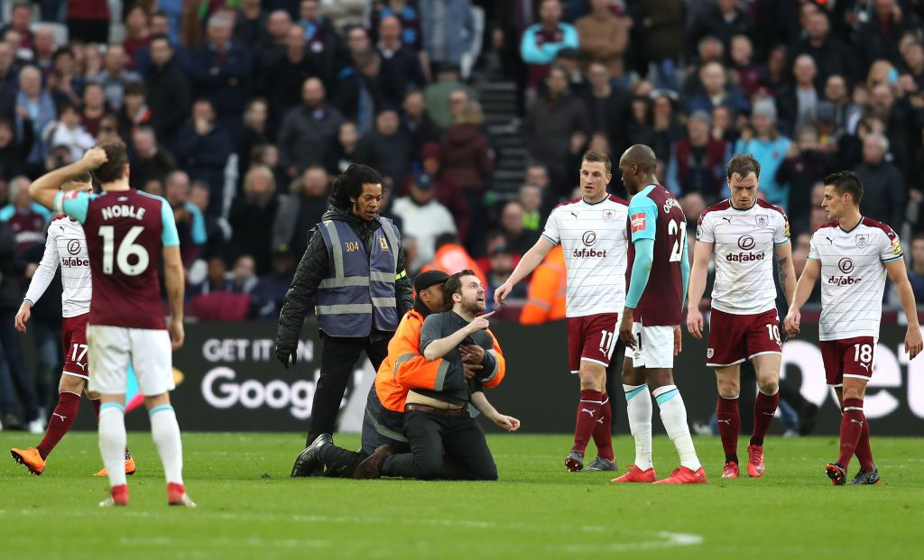 during the Premier League match between West Ham United and Burnley at London Stadium on March 10, 2018 in London, England.