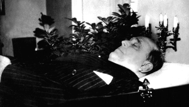 Jan Masaryk, minister of Foreign Affairs, after his suicide.