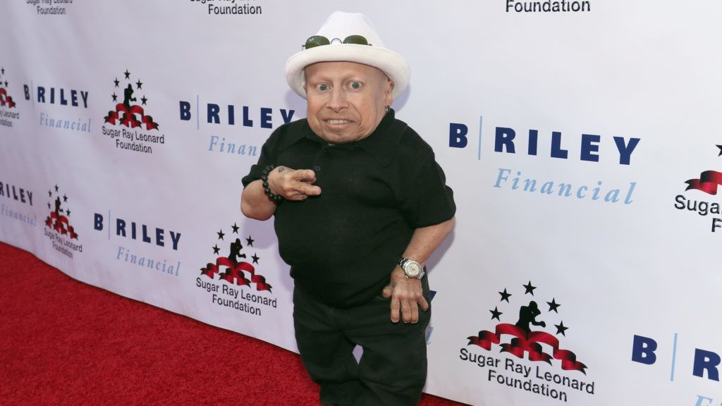 """HOLLYWOOD, CA - MAY 25: Verne Troyer attends B. Riley & Co. and Sugar Ray Leonard Foundation's 7th Annual """"Big Fighters, Big Cause"""" Charity Boxing Night at Dolby Theatre on May 25, 2016 in Hollywood, California.   Mark Davis/Getty Images for Sugar Ray Leonard Foundation /AFP"""