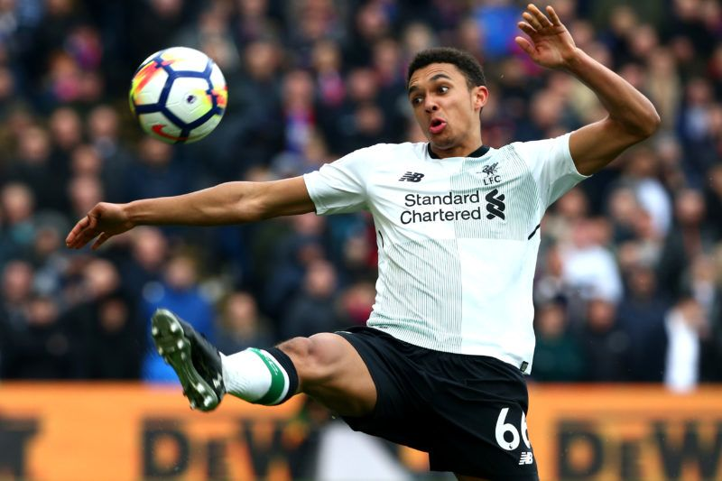 Liverpool's Trent Alexander-Arnoldduring the Premiership League  match between Crystal Palace and Liverpool at Wembley, London, England on 31 March 2018.  (Photo by Kieran Galvin/NurPhoto)