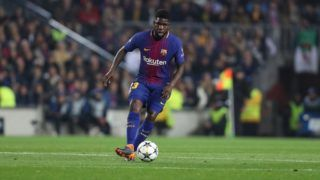 SAMUEL UMTITI of FC Barcelona during the UEFA Champions League, round of 16, 2nd leg football match between FC Barcelona and Chelsea FC on March 14, 2018 at Camp Nou stadium in Barcelona, Spain - Photo Manuel Blondeau / AOP Press / DPPI