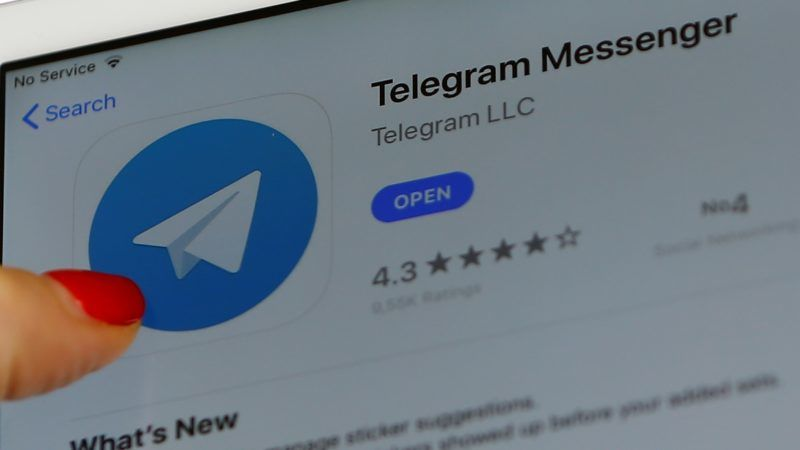 MOSCOW, RUSSIA - APRIL 06: A woman look at to Telegram Messenger from smartphone in Moscow, Russia on April 06, 2018. Russia regulator Roskomnadzor have asked court to block Telegram.  Sefa Karacan / Anadolu Agency