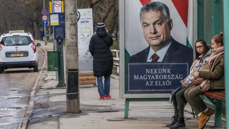 Victor Orban Hungarian PM and Fidesz party leader electoral campaign poster is seen in Miskolc, Hungary on 30 March 2018 Hungarian parliamentary elections will be held on 8 April 2018 (Photo by Michal Fludra/NurPhoto)