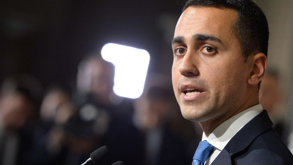 M5S leader Luigi Di Maio at the end of the Consultations of the President of the Republic for the formation of the new Government on April 12, 2018 in Rome, Italy (Photo by Silvia Lore/NurPhoto)