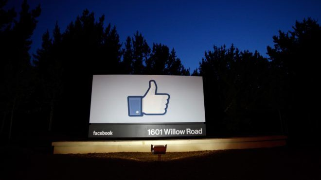 MENLO PARK, CA - MAY 18: A 'like' sign stands at the entrance of Facebook headquarters May 18, 2012 in Menlo Park, California. The eight-year-old social network company listed their initial public offering on NASDAQ Friday morning at $38 a share and a valuation of $104 billion, making its IPO the third largest in U.S. history after General Motors and Visa.   Stephen Lam/Getty Images/AFP