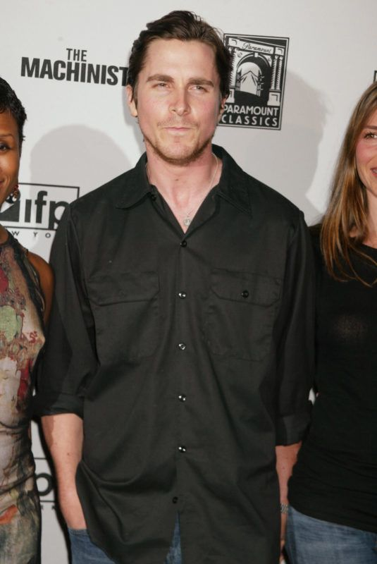 """Christian Bale during The NYC premiere of """"The Machinist"""" at Ziegfeld Theater in New York, New York, United States. (Photo by Sylvain Gaboury/FilmMagic)"""