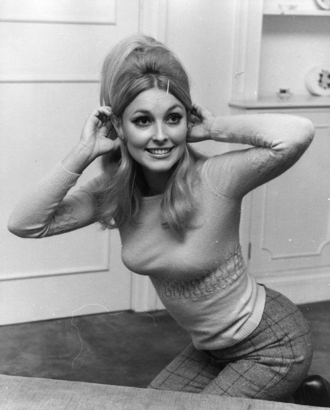 American actress Sharon Tate (1943 - 1969), second wife of film director Roman Polanski, in London. She was murdered by followers of Charles Manson the notorious serial killer.  Original Publication: People Disc - HM0257   (Photo by Keystone/Getty Images)