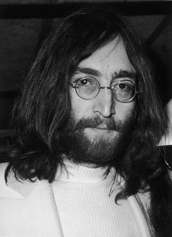 2nd April 1969:  Singer, songwriter and guitarist John Lennon (1940 - 1980) of The Beatles, at a press conference at Heathrow airport on his return from honeymoon with Yoko Ono.  (Photo by George Stroud/Express/Getty Images)