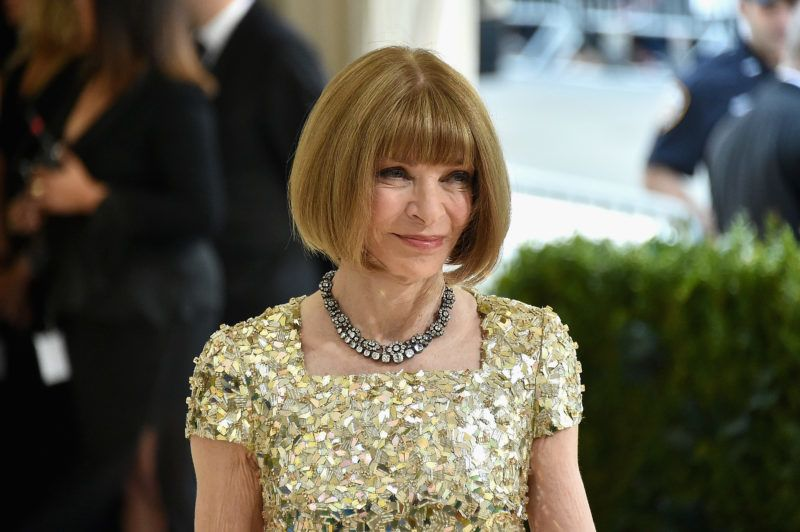 """NEW YORK, NY - MAY 01:  Anna Wintour attends the """"Rei Kawakubo/Comme des Garcons: Art Of The In-Between"""" Costume Institute Gala at Metropolitan Museum of Art on May 1, 2017 in New York City.  (Photo by Mike Coppola/Getty Images for People.com)"""