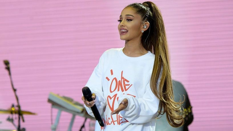performs on stage during the One Love Manchester Benefit Concert at Old Trafford on June 4, 2017 in Manchester, England.