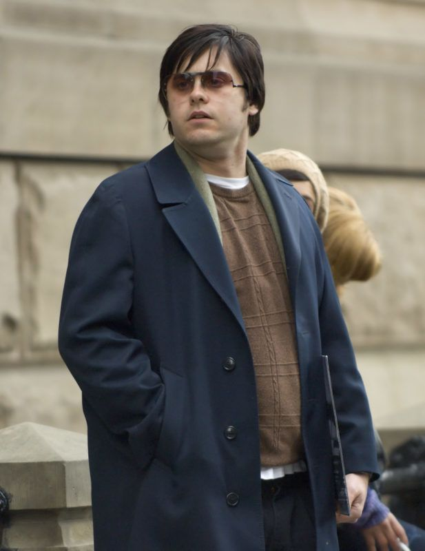 Jared Leto, who plays Mark David Chapman at the The Dakota in New York City, New York (Photo by RJ Capak/WireImage)