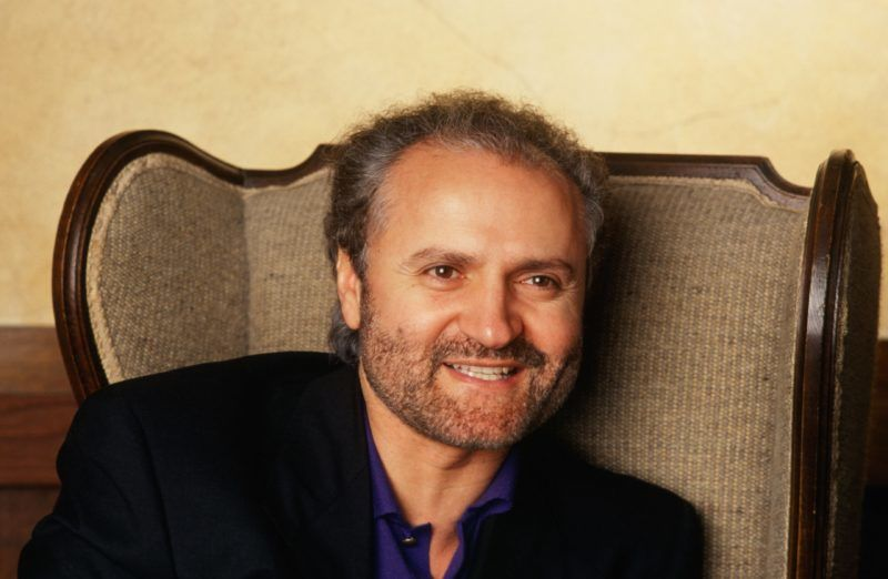 LOS ANGELES, CA - 1991:  Italian fashion designer and toast of Paris, Miami and New York social circles, Gianni Versace, poses in a 1991 Los Angeles, California, photo. (Photo by George Rose/Getty Images)
