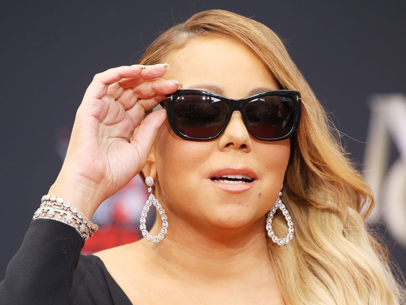 HOLLYWOOD, CA - NOVEMBER 01:  Mariah Carey attends the hand and footprint ceremony honoring her held at TCL Chinese Theatre on November 1, 2017 in Hollywood, California.  (Photo by Michael Tran/FilmMagic)