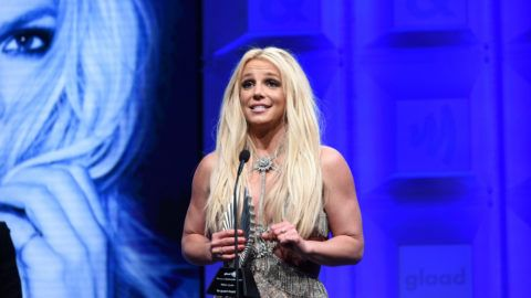 BEVERLY HILLS, CA - APRIL 12:  Honoree Britney Spears accepts the Vanguard Award onstage at the 29th Annual GLAAD Media Awards at The Beverly Hilton Hotel on April 12, 2018 in Beverly Hills, California.  (Photo by Vivien Killilea/Getty Images for GLAAD)