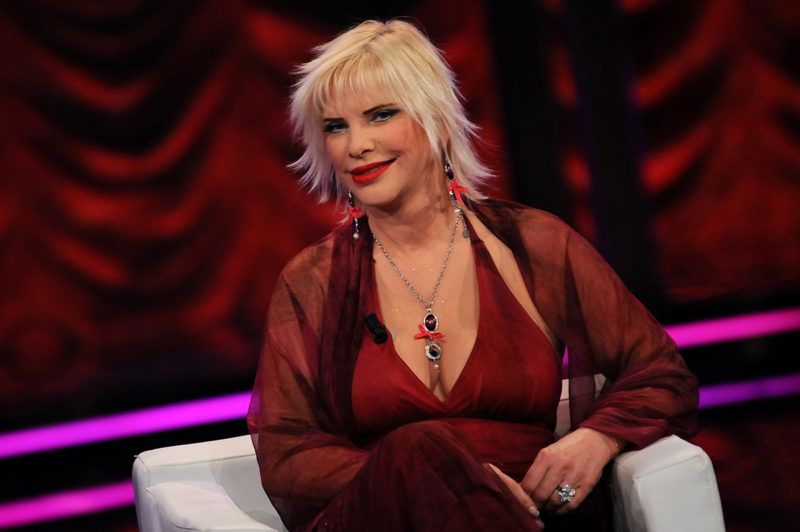 """MILAN, ITALY - MARCH 10:  Ilona Staller during the """"Chiambretti night"""" Italian tv show on March 10, 2009 in Milan, Italy.  (Photo by Morena Brengola/Getty Images)"""