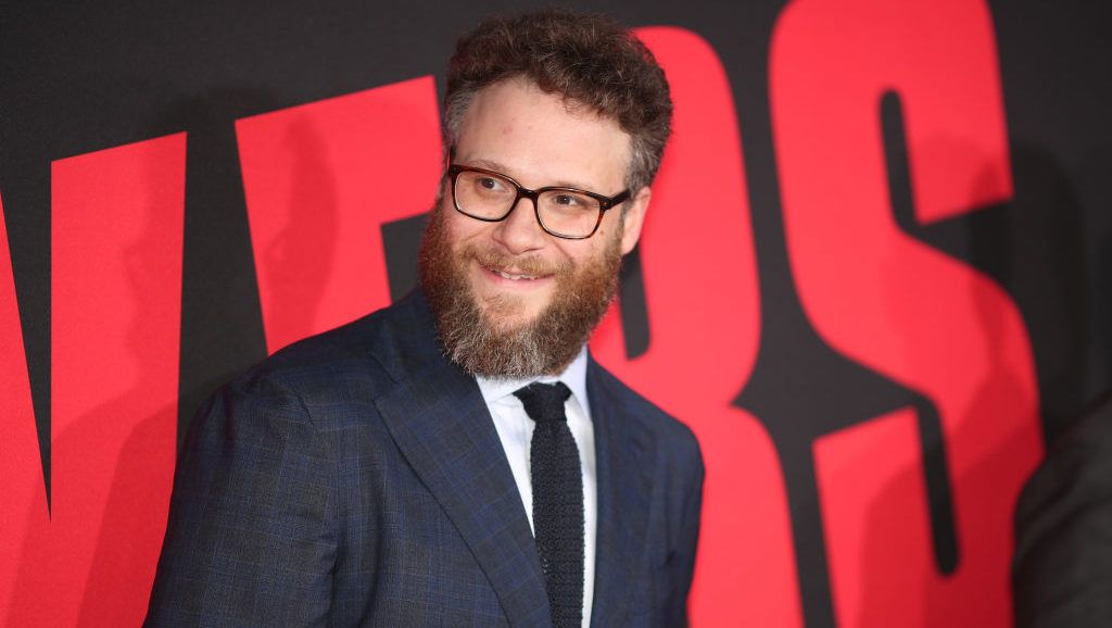 "WESTWOOD, CA - APRIL 03:  Seth Rogen attends the premiere of Universal Pictures' ""Blockers"" at Regency Village Theatre on April 3, 2018 in Westwood, California.  (Photo by Christopher Polk/Getty Images)"