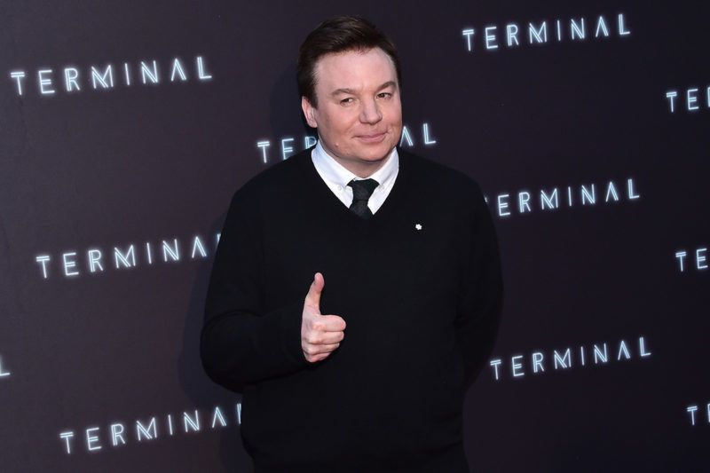 Actor Mike Myers attends the premiere of 'Terminal' at the Arclight theatre in  Hollywood, on May 8, 2018. / AFP PHOTO / CHRIS DELMAS