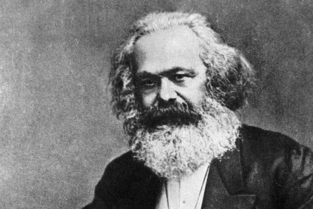 German philosopher and economist Karl Marx. Late 1870s. Reproduction. Karl Marx and Friedrich Engels Museum at the CPSU Central Committee Institute of Marxism-Leninism