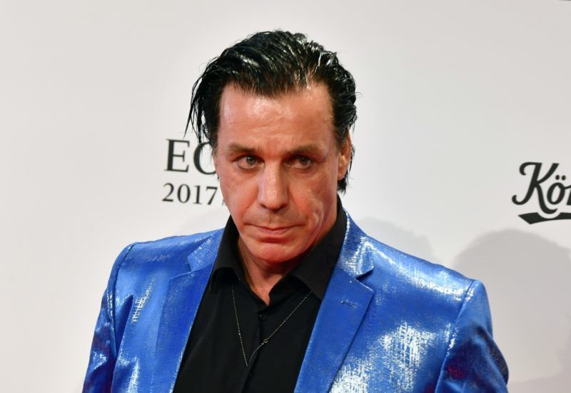 Till Lindemann, singer of German band Rammstein, arrives for the 26th edition of the Echo music award ceremony inBerlin,Germany, 06 April 2017. Photo: Jens Kalaene/dpa