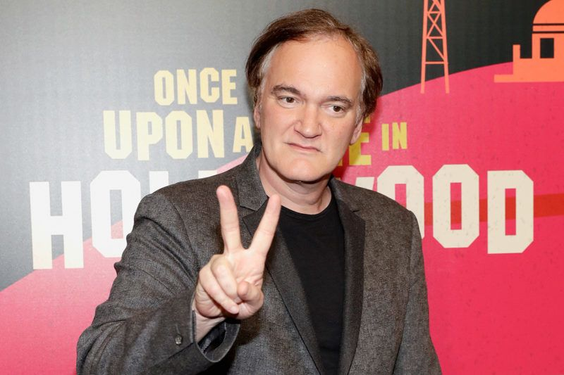 LAS VEGAS, NV - APRIL 23: Director Quentin Tarantino attends the CinemaCon 2018 Gala Opening Night Event: Sony Pictures Highlights its 2018 Summer and Beyond Films at The Colosseum at Caesars Palace during CinemaCon, the official convention of the National Association of Theatre Owners, on April 23, 2018 in Las Vegas, Nevada.   Isaac Brekken/Getty Images for CinemaCon /AFP