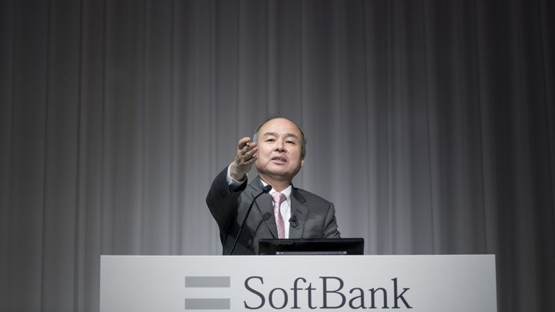 SoftBank Group Corp Chairman and CEO Masayoshi Son attends a news conference in Tokyo, May 9, 2018. SoftBank Group Corp. shows Consolidated Financial Report for the fiscal year ended March 31, 2018 (Photo by Alessandro Di Ciommo/NurPhoto)