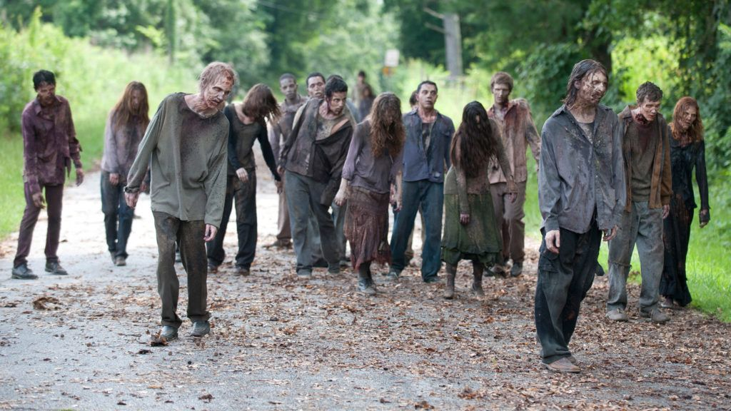 HANDOUT - A handout picture made available on 25 July 2016 by AMC depicts zombies in a scene from 'The Walking Dead' (undated picture). This year RTLII is sending zombies through German television by the score. Photo:Gene Page/TWD productions LLC Courtesy of AMC/dpa   (ATTENTIONEDITORS:Editorial use only in connection with reporting on the series and with mandatory source credit: Photo:Gene Page/TWD productions LLC Courtesy of AMC/dpa)
