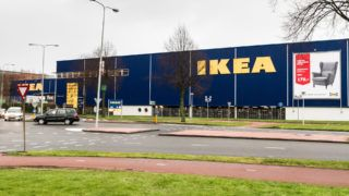 AMSTERDAM, NETHERLANDS - DECEMBER 18: An IKEA logo is seen on an IKEA store in Amsterdam, Netherlands on December 18, 2017. The European Commission is to open an in-depth investigation into IKEA's corporate tax structure. Paco Nunez / Anadolu Agency