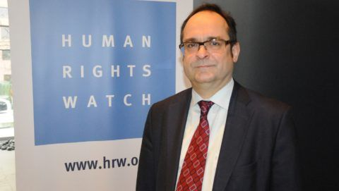 Germany Director of Human Rights Watch, Wenzel Michalski, Syria war crimes are shocking and realistic during the annual report 2014 of the human rights organization on January 21, 2014. Erbil Basay / Anadolu Agency