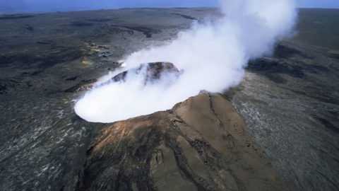 The Pulu O's cinder cone, the active vent on the southern flank of the Kilauea volcano, UNESCO World Heritage Site, Big Island, Hawaiian Islands, United States of America, North America