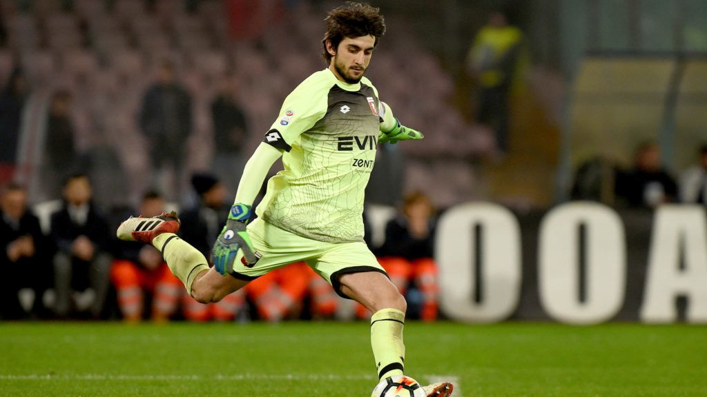Mattia Perin of Genoa CFC during the Serie A TIM match between SSC Napoli and Genoa CFC at Stadio San Paolo Naples Italy on 18 March 2018. (Photo Franco Romano)