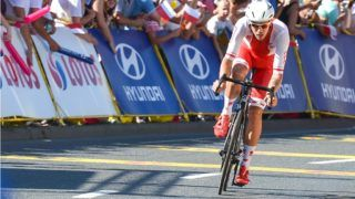 Polish rider Pawel Bernas from Polish National Team Orlen CCC during the second stage, a 132km Tarnowskie Gory - Katowice, during the 74th edition of Tour of Poland 2017.   On Sunday, July 30, 2017, in Katowice, Poland. (Photo by Artur Widak/NurPhoto)
