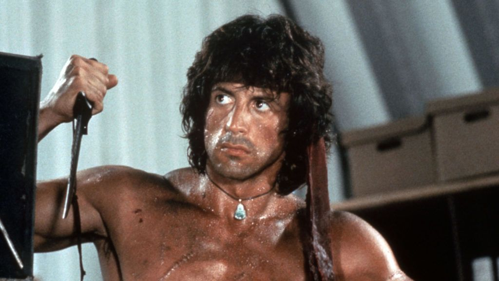 Rambo I First blood 1982 Real  Ted Kotcheff Sylvester Stallone. Collection Christophel © Anabasis NV / Elcajo Productions